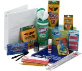 Back to school supplies elementary school