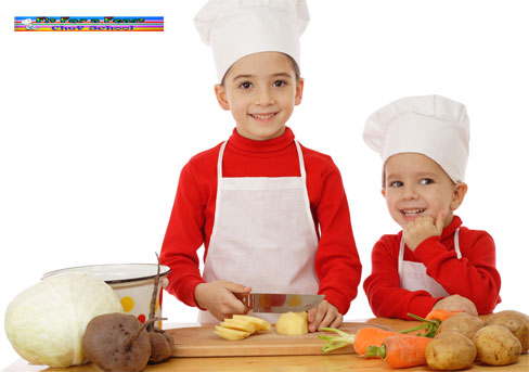 Kids chef hats and aprons at FitForafeast