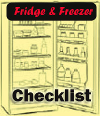 Fridge and Freezer Checklist
