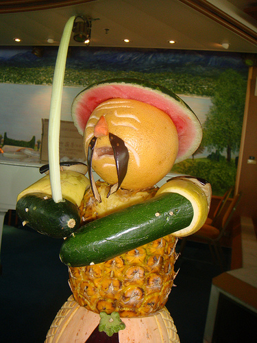 Fruit sculpting food art