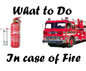 What to do in case of fire for kids
