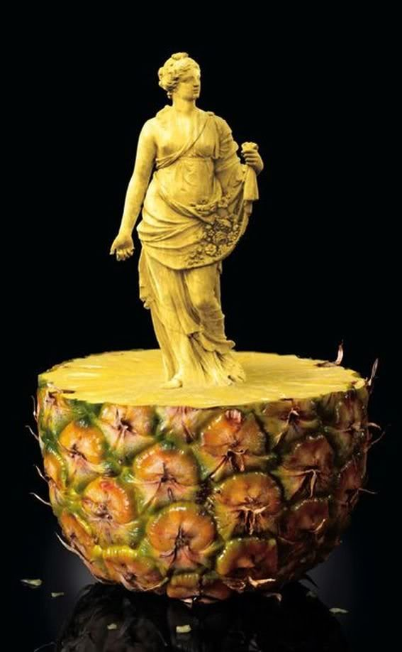 Pineapple fruit art