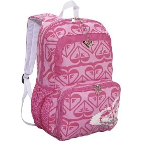 pink roxy backpack for girls