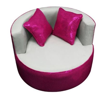 Merveilleux Round Chair For Teens In Pink