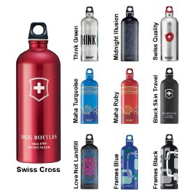 Water bottle colors carbon footprint